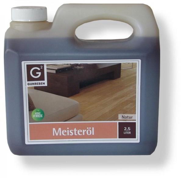 Meisteröl Natur von Gunreben, 2,5 Liter Kanister, zur Ersteinpflege und Grundbehandlung von Holzböden