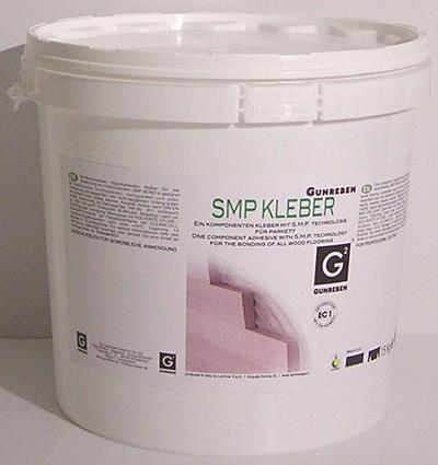 Polymer Parkettkleber 1K SM von Gunreben, verbrauchsfertig, elastisch und für Fußbodenheizung geeignet